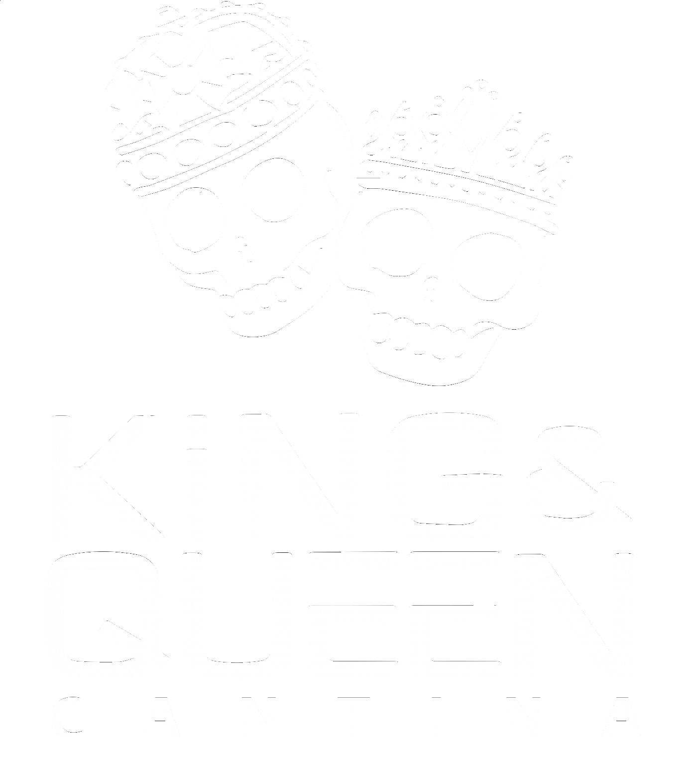 King and Queen Cantina logo white